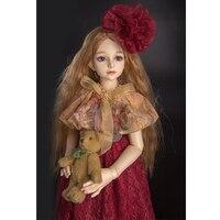 Bjd bebek giysileri 1/4 SD bebek giysileri Retro elbise Yaprak Luo doll Aksesuarları kız oyuncak giysi Etek Hediye Modeli Dahil Değildir