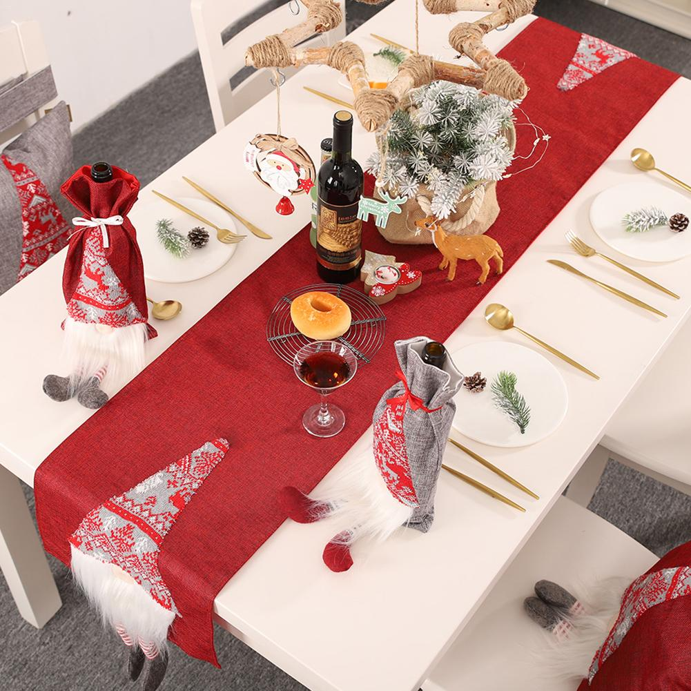 Christmas Table Flag Faceless Doll Rudolph Innovative 3D Santa Claus Decoration Placemat