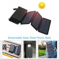 Folding Foldable Solar Panel Charger 5V Power Bank 20000mah Sunpower Solar Battery USB Output for Smartphone Outdoors