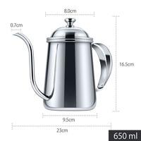 1Pcs 650ml Coffee Pot Stainless Steel Long Mouth Coffee Pot Teapot Gooseneck Spout Kettle Drip Coffee Kettle Pitchers Colorful