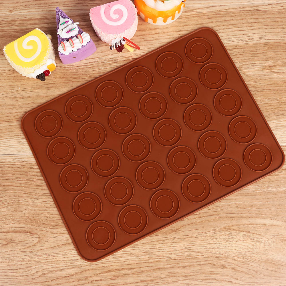 30 Cavity DIY Cake Mold Sheet Mat Round Pastry Oven Baking ...