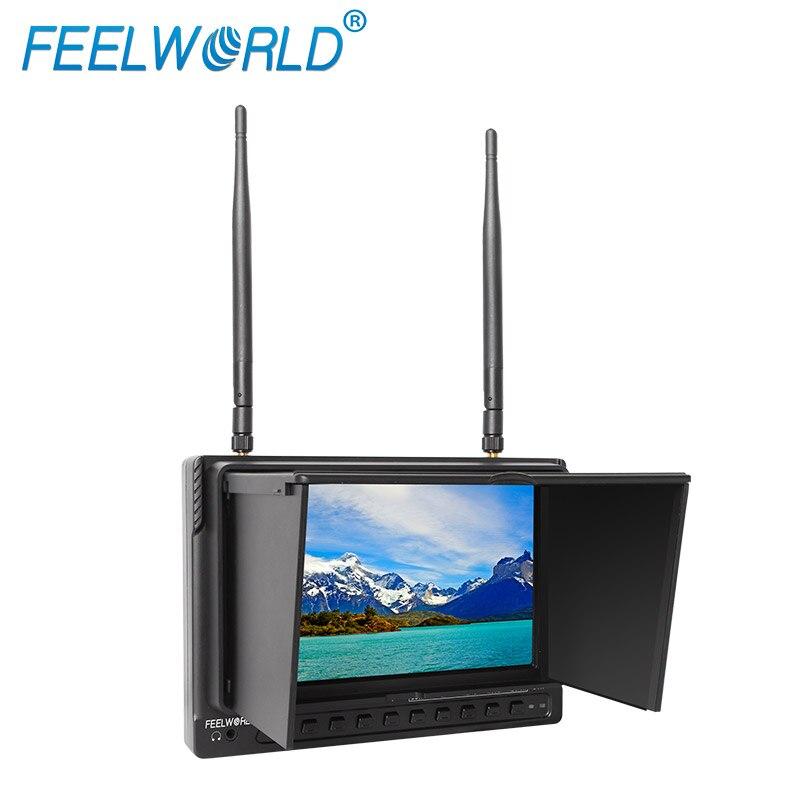 bilder für Feelworld 10,1 Zoll IPS 1024x600 Wireless Monitor mit DVR Eingebaute Batterie Dual 5,8G 32CH Diversity Empfänger PVR1032
