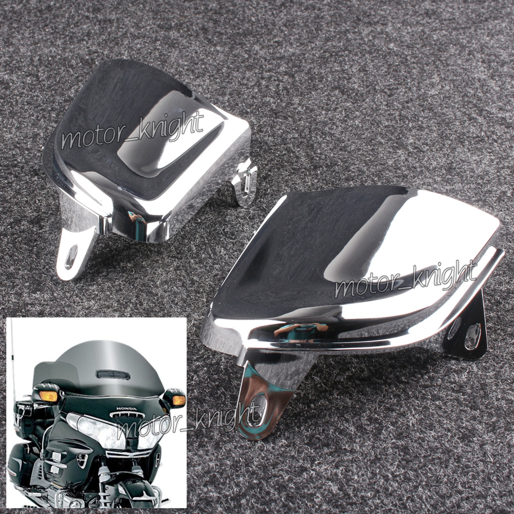 Front Chrome Headlight Cover Trims For Honda Goldwing Gold Wing GL1800 2006-2014