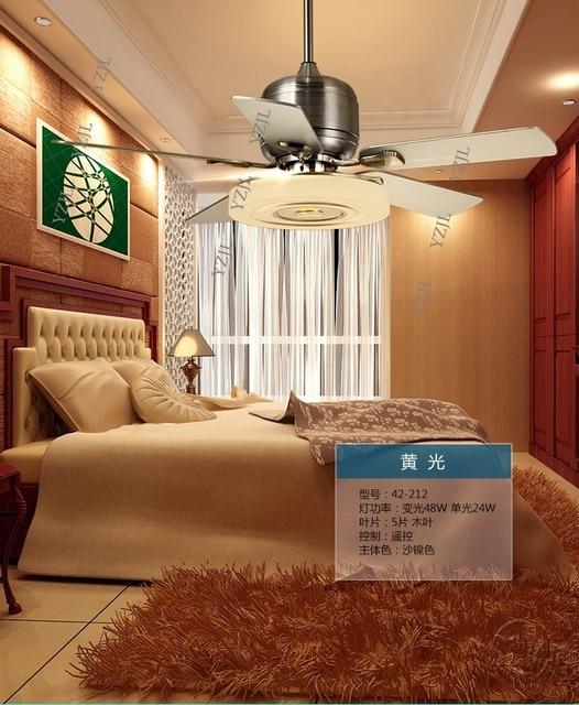 Wohnzimmer Fan Lampe Deckenventilator 48 Zoll Schlafzimmer Moderne Stille  Fan Lampe Fernbedienung Restaurant Frequenzkonversion Deckenventilator