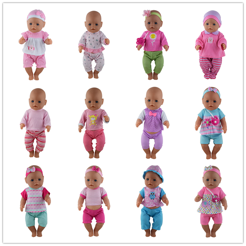 Hot Fashion Set Doll Clothes Wear Fit For 43cm/17inch Baby Doll, Children Best Birthday Gift(only Sell Clothes)