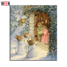 Painting By Numbers Diy Digital Oil Wall Art Decorative Pictures Quadros Unique Gift Rabbit Malen Nach Zahlen Picture