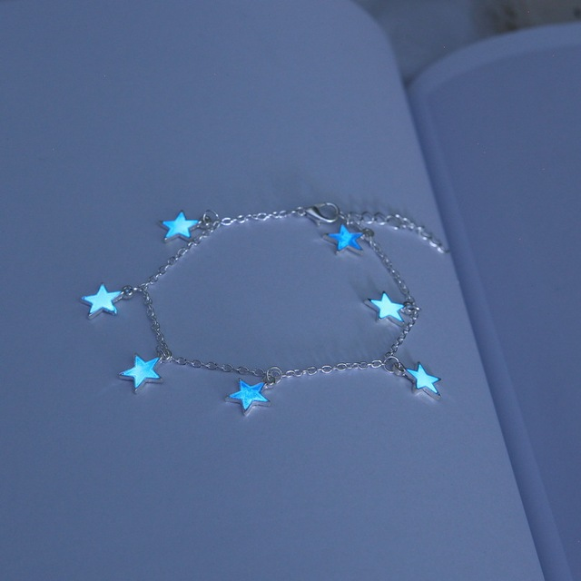 Luminous Beach Wind Blue Pentagonal Star Tassel Ankle 4
