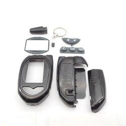 Étui porte-clés pour shérif zx1055 | version russe, système d'alarme de voiture lcd bidirectionnel, livraison gratuite