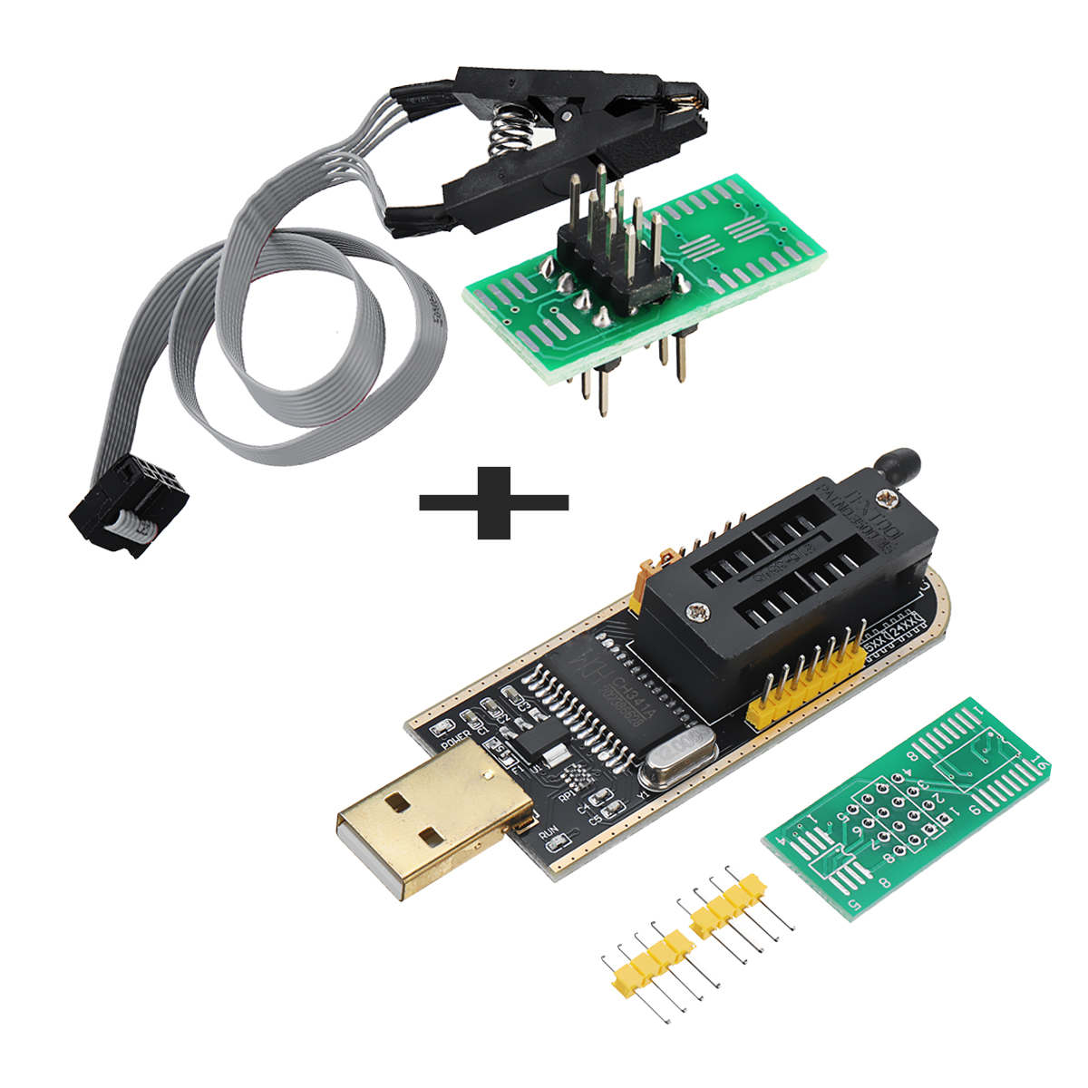 LCD Flash SOIC8 Adapter CH341A SOIC8 Clip EEPROM BIOS Writer USB Programmer