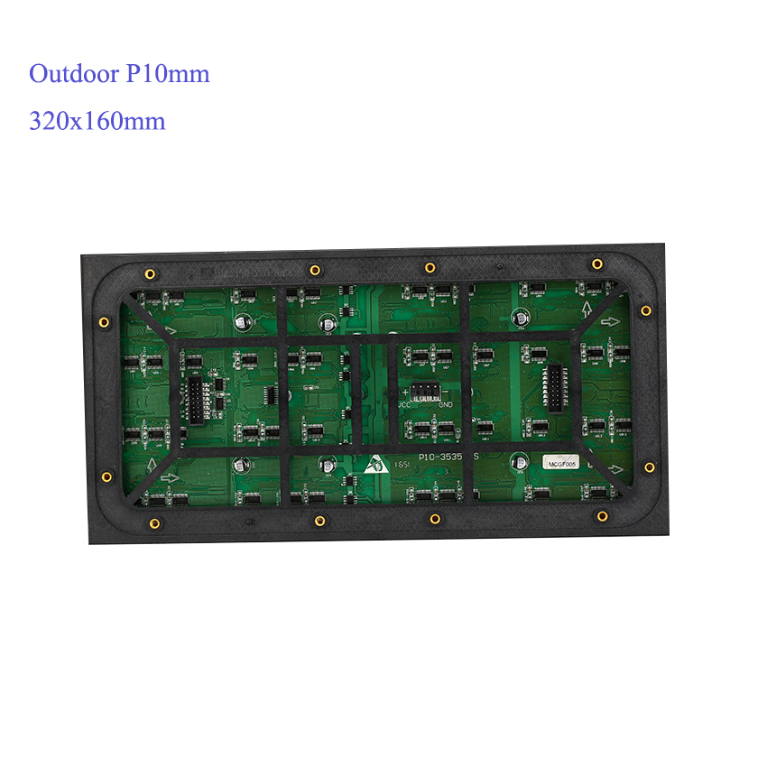 5pcs Outdoor P10mm 320x160mm Module, 1pcs HD-D10 Wifi Control Card, 1pcs Power 5v300W Supply 1pcs Temperature Sensor