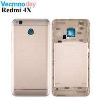 Vecmnoday Phone Housing For Xiaomi Redmi 4X Case Replacement Parts Metal Back Battery Cover For Xiomi