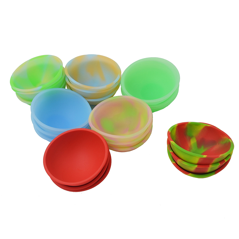 120pcs Silicone Pinch Bowls handy Fluorescent flexible silicone mini pinch bowls jars slick oil bho versatile