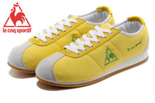 Le Coq Sportif Women's Running Shoes,High Quality Embroidery Logo Le Coq Sportif Women's Athletic Shoes Sneakers Yellow Color 4