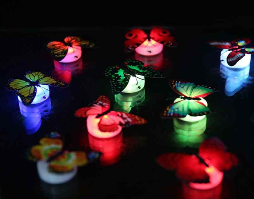 5pc oferta cena zmieniający kolory motyl LED lampka nocna Home Room Party biurko dekoracje ścienne dekoracje home Decor 10.13