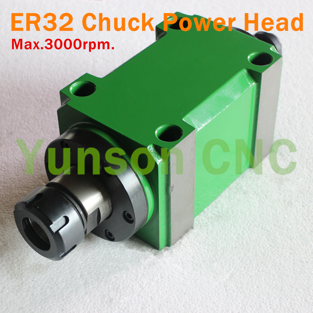 ER32 Collet Chuck 1500W 1 5KW 2hp Max 3000rpm Power Head Power Unit Machine Tool Spindle