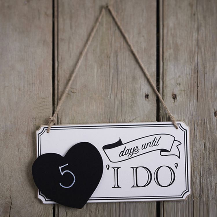 Wedding Photo Props Decorations Chalk Board Wedding Sign X Days Until I DO Bunting Banner Garland Hanging Letters Wooden Signs