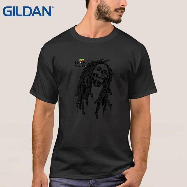 be69b3c341f Bob Marley Reggae Rasta Tank Style T-Shirts Black 100% Cotton Plus Size Tee  Shirt Printed Cloth Short Sleeves Mens
