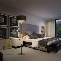 Wood new Nordic modern Floor lights minimalist fashion vertical wooden bedroom study living room lamp cloth Floor Lamps MZ20