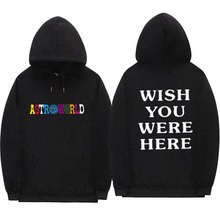e439ba2c0125 TRAVIS SCOTT ASTROWORLD WISH YOU WERE HERE HOODIES fashion letter  ASTROWORLD HOODIE streetwear Man woman Pullover