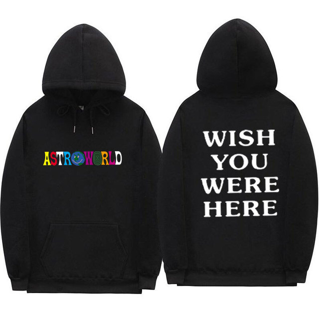 a62789c7bd38 TRAVIS SCOTT ASTROWORLD WISH YOU WERE HERE HOODIES fashion letter ASTROWORLD  HOODIE streetwear Man woman Pullover Sweatshirt