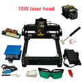 DIY лазерная машина 15 Вт металлическая гравировальная машина для деревянной бумаги и пластика с лазерным стеклом и полным лазерным набором