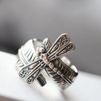 925 Sterling Silver Ring Finger Openings Thai Silver Rings To Restore Ancient Ways Small Dragonfly Mustard