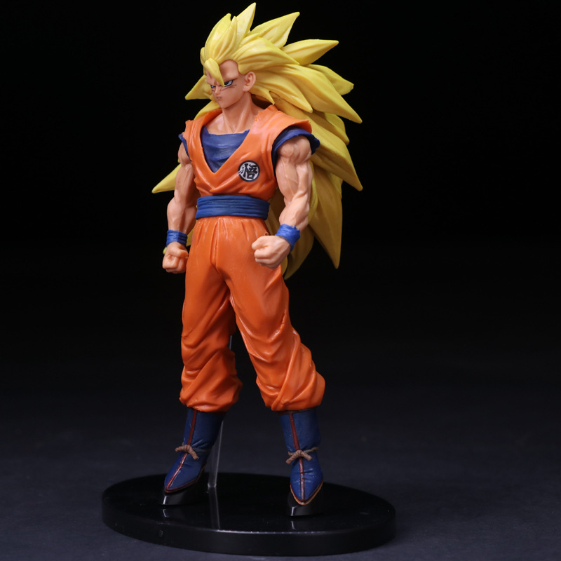 SCultures BIG Anime Dragon Ball Z Super Saiyan 3 Son Goku PVC Action Figure Collection Model Kids Toys Doll 18cm 26 5cm new hot pvc action figure zerodragon ball super saiyan 4 son goku model doll decoration collection figurine toys for gift