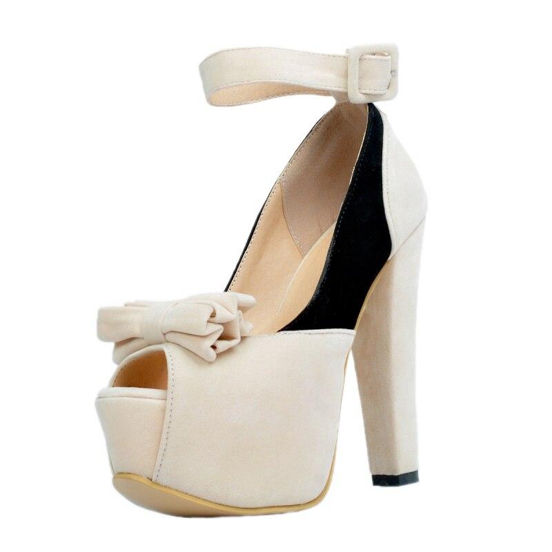 ความตั้งใจเดิมผู้หญิงรองเท้าแตะสายคล้องคอ Nice เปิดนิ้วเท้าหวานสแควร์รองเท้าส้นสูงรองเท้าผู้หญิง Plus ขนาด 4 15-ใน รองเท้าส้นสูง จาก รองเท้า บน   2