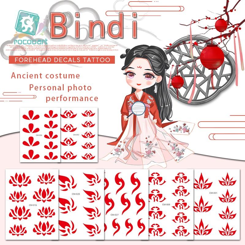 Bindi India Sticker Face Jewels Tatoo Forehead Temporary Tattoo Sticker Actress Make Up Tatuaje Festival Taty Party Tatouage