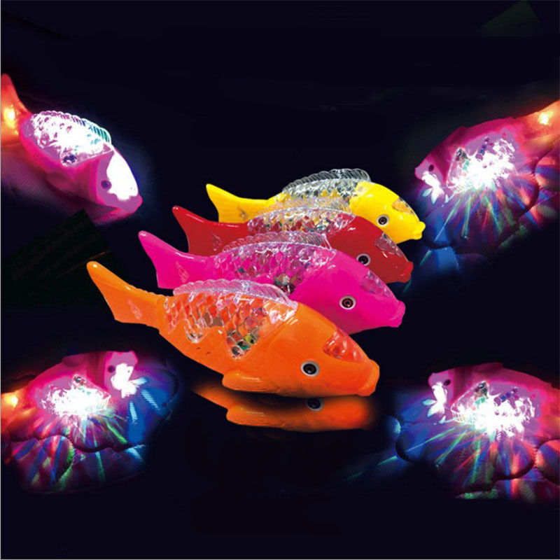 New Electric Flash Swim Fish Magical Music With Light Machine Sensation Fish Swim Pet Clown Fish With Music Lights Toys Gifts