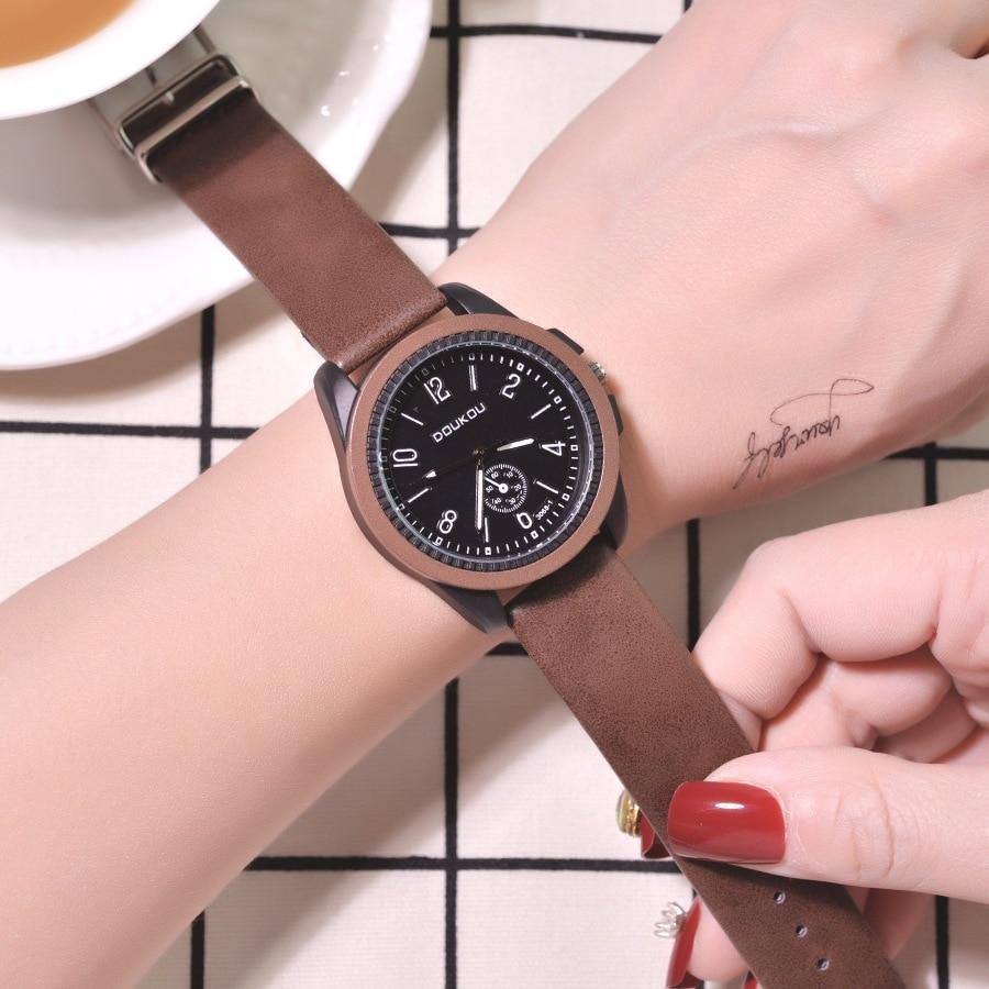 Vintage Leather Women Quartz Watch 2019 Casual Ladies Wristwatches Women's Fashion Brand Montres Femme Brown Female Clock