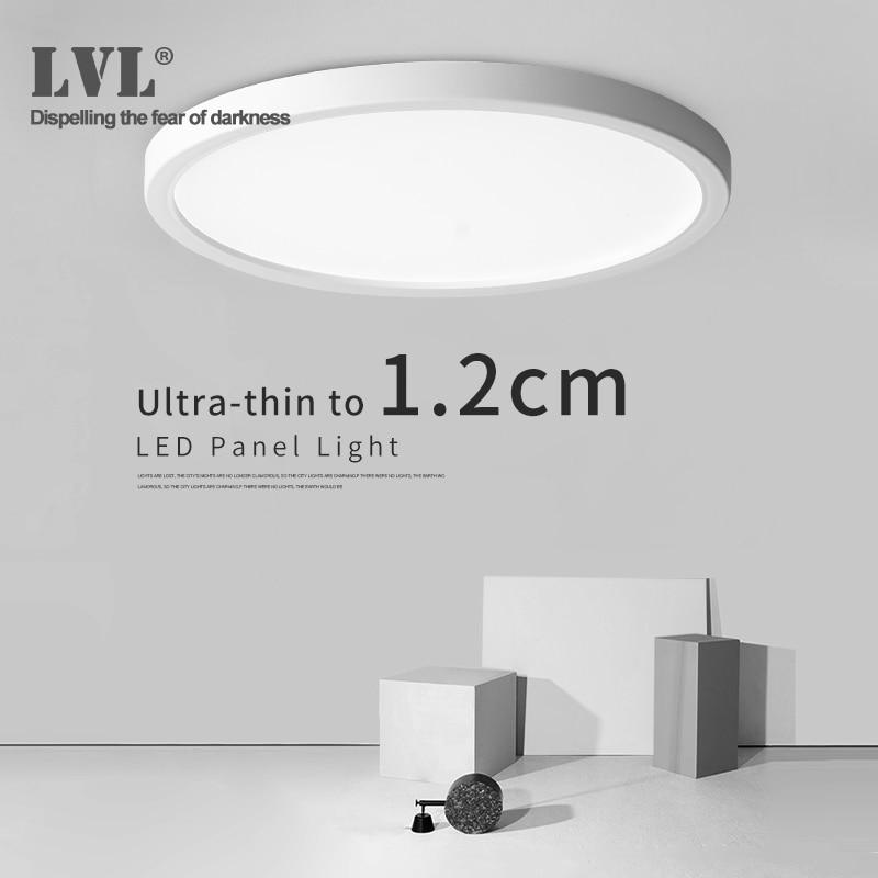Panel de luz Led 6W 9W 13W 18W 24W superficie techo Downlight AC85-265V lámpara de techo redonda para iluminación interior del hogar