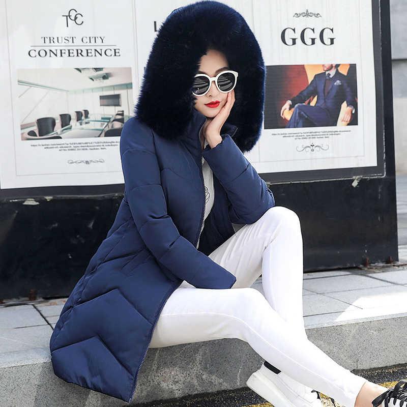 Большой Мех 2019 новые парки женские зимние пальто женские большие размеры 6XL женская зимняя куртка Верхняя одежда парки для женщин Зимний пуховик