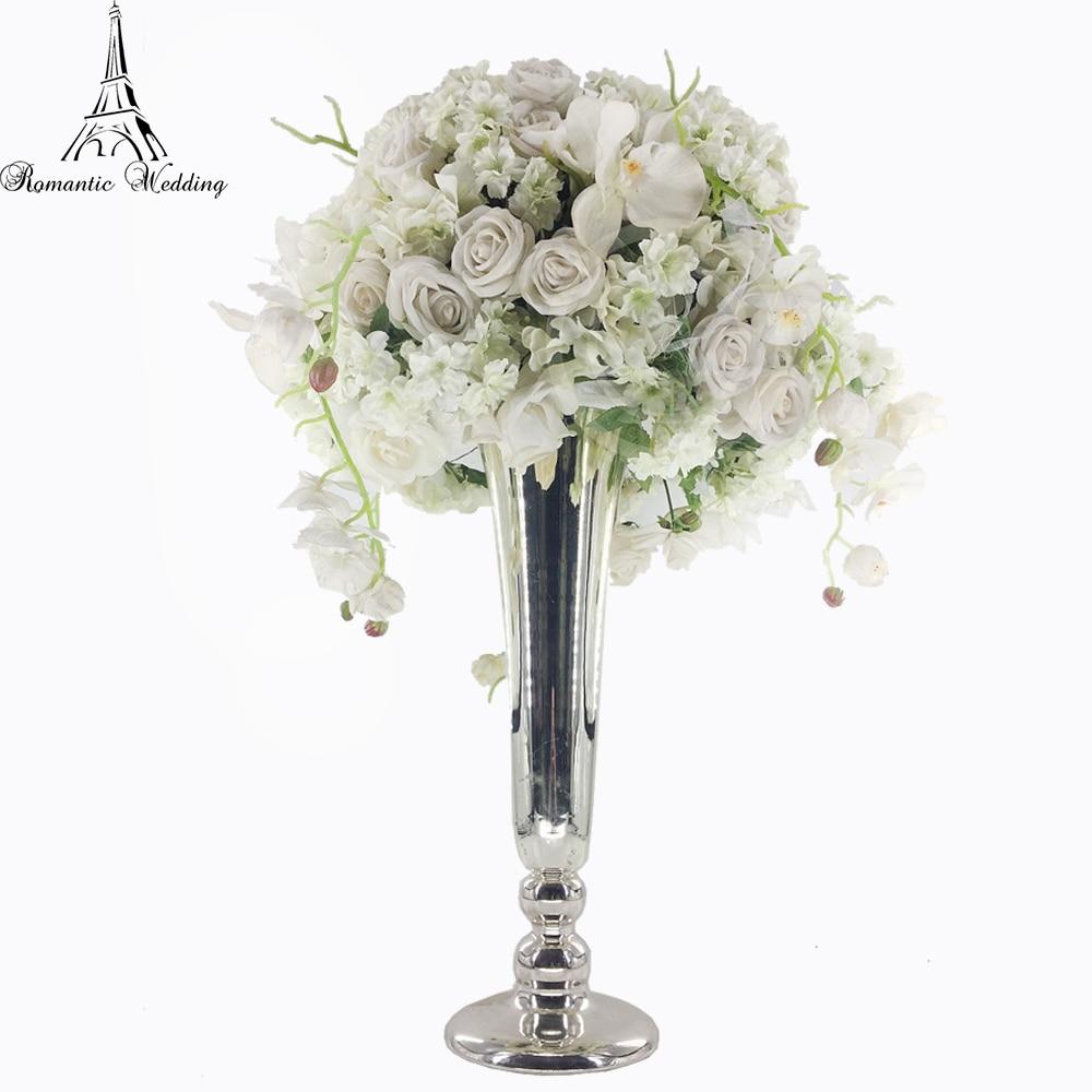 Vase trompette/centres de table en métal pour décorations de mariage/produits d'événement et décorations de fête