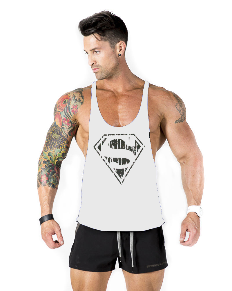 ed1f508b4682a9 brand famous gym shark Bodybuilding!fashion gymshark sleeveless shirts tank  top men sexy Fitness Muscle Men Shirt Golds Gym Vest-in Tank Tops from  Men s ...