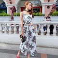 New Arrival Ladies Elegant Jumpsuit Women print sleeveless slim V-neck Jumpsuit Fashion jumpsuit