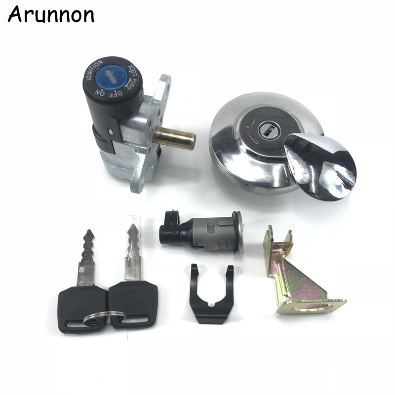 Arunnon Motorcycle Accessories Ignition Switch Lock Key FOR HONDA DIO AF54 Crea 50 The New Ignition Lock