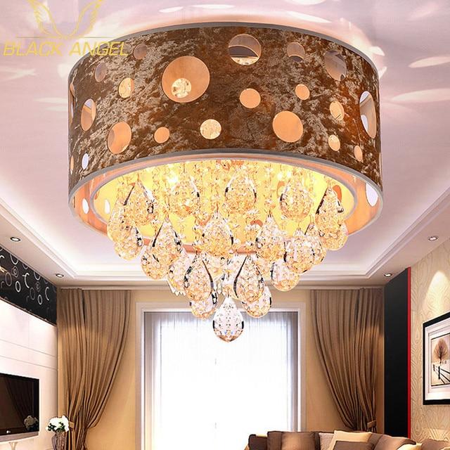 Hotel lobby crystal Ceiling Light for led modern living room ceiling lamps luminaria de teto Christmas party lighting fixture