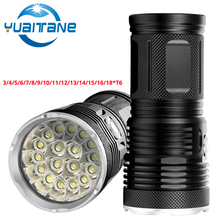 72000 Lumens Most Powerfull LED Flashlight 3to18*T6 LED Outdoor Light Waterproof Flash Light Torch Lanterna For Camping By 18650 стоимость
