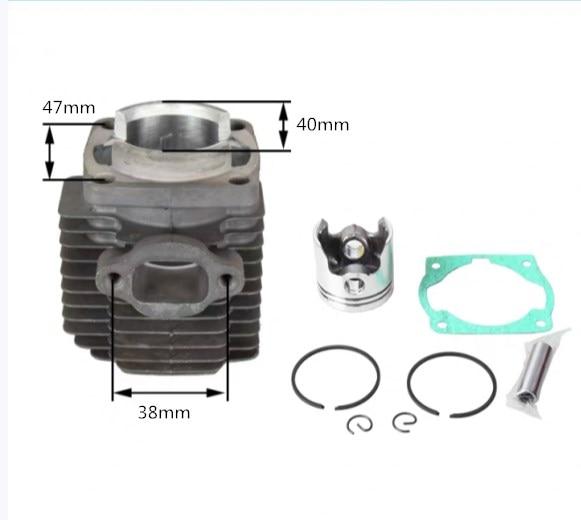 1E40F-6 Cylinder For CG411 Brush Cutter Bc411 Bg411 Grass Trimmer NB411 Cylinder Kit And Piston Set EC04 Cylinder 40mm