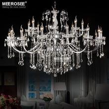 Top K9 Crystal Chandelier Modern Large Indoor Chandeliers Lamps Light 24 Arms Lustre Lighting Fixtures for kitchen Living Room