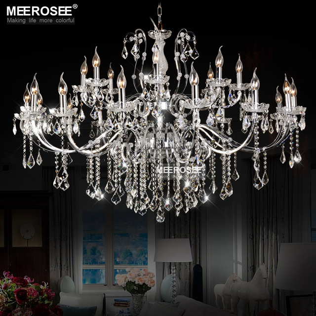 Top K9 Crystal Chandelier Modern Large Indoor Chandeliers Lamps Light 24 Arms Re Lighting Fixtures For