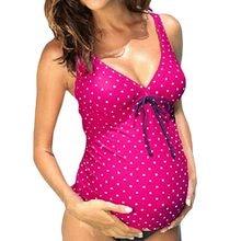 ec5d27d71 S-5XL de gran tamaño maternidad traje de las mujeres embarazadas traje de  baño de una sola pieza traje de baño Bikini Polka-dot .