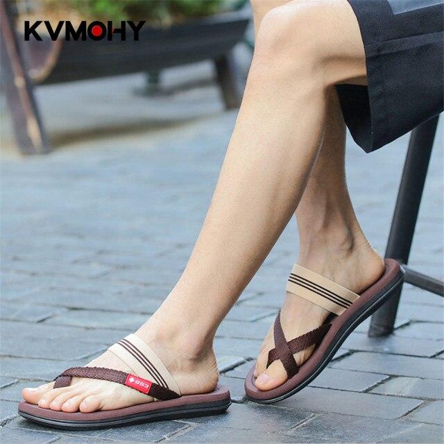 Flip Flops Men Shoes Fashion Slippers Couple Sandals Solid Plus Size Outside  Tenis Masculino Chanclas Hombre