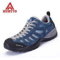 Zapatos de Senderismo al aire libre para hombre, zapatos de Senderismo de cuero genuino, zapatillas de deporte para mujer, Calzado deportivo de montaña para escalar, Calzado de Senderismo