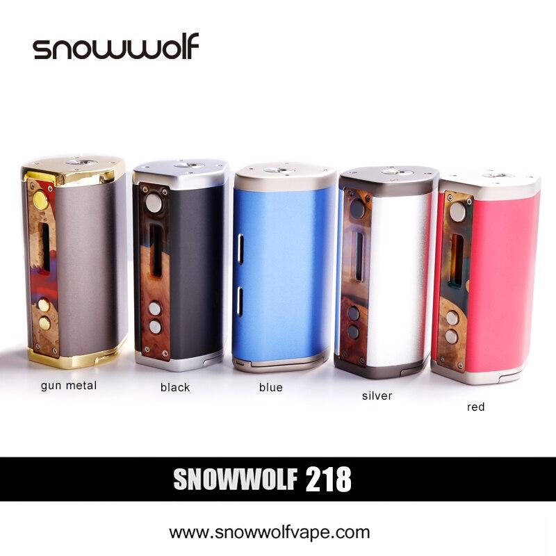 2pcs/lot SnowWolf 218W Box Mod Vape E Cigarette Kit Battery Powered by 18650 Mod Box e-cigarettes Variable 10-218W Tank Vapor