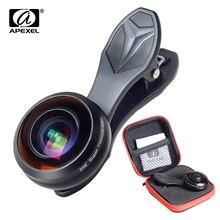 Apexel ユニバーサル電話レンズスーパー 238 度の魚眼撮影 0.2X フルフレーム広角レンズ iphone 7 8 x プラス xiaomi samsung