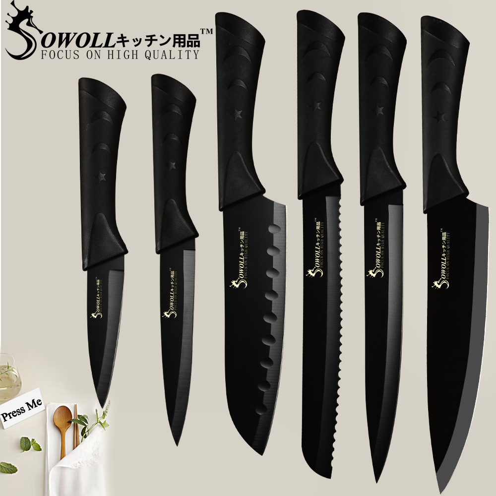 SOWOLL Stainless Steel Kitchen Knives and Slicing Tool for Cutting Meat and Vegetables 6