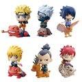 6 unids/lote Naruto Mini 6 CM Figura de Acción de Naruto Kakashi NaraShikamaru Gaara Sasuke Namikaze Minato PVC Figure Juguetes Muñecas