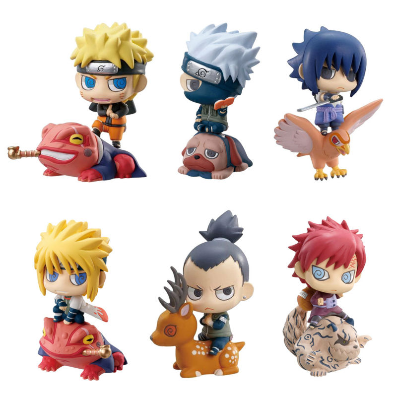 6pcs/lot Naruto Mini 6CM Action Figure Naruto Kakashi NaraShikamaru Gaara Sasuke Namikaze Minato PVC Figure Toys Dolls